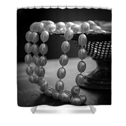 The Drama Of Pearls Shower Curtain