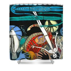 The Dream Of The Fish Shower Curtain by Annael Anelia Pavlova
