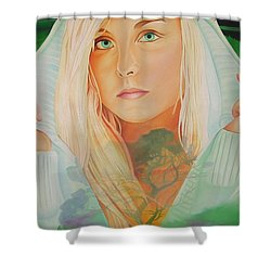 Shower Curtain featuring the painting The Dreaming Tree by Joshua Morton