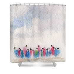 The Drifting People Shower Curtain