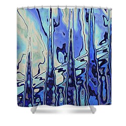 Shower Curtain featuring the digital art The Drowsy Conversation by Wendy J St Christopher