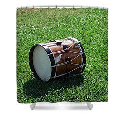 The Drum Shower Curtain by Eric Liller