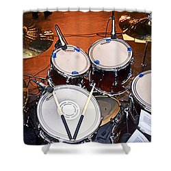The Drum Set Shower Curtain by Paul Mashburn