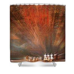 The Drumbeat Rising Shower Curtain