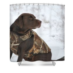 The Duck Dog Iv Shower Curtain