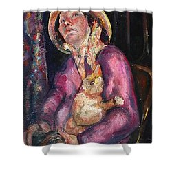 The Duck Girl Shower Curtain