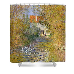 The Duck Pond Shower Curtain by Claude Monet