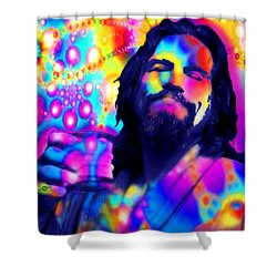 The Dude The Big Lebowski Jeff Bridges Shower Curtain by Tony Rubino