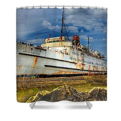 The Duke Shower Curtain by Adrian Evans