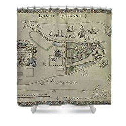 The Dukes Plan A Description Of The Town Of Mannados Or New Amsterdam 1664 Shower Curtain
