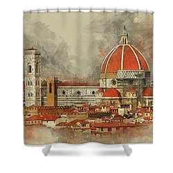The Duomo Florence Shower Curtain by Brian Tarr