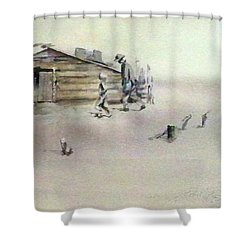 The Dustbowl Shower Curtain by Ed Heaton