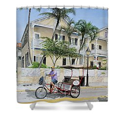 The Duval House, Key West, Florida Shower Curtain
