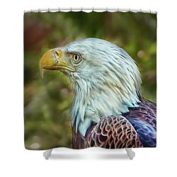Shower Curtain featuring the photograph The Eagle Look by Hanny Heim