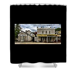 Shower Curtain featuring the photograph The Eagle Theater And Skalet Family Jewelers Old Sacramento by Thom Zehrfeld