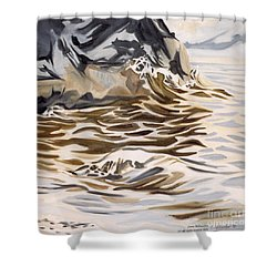 The Eagles Nest At Gower Point Shower Curtain