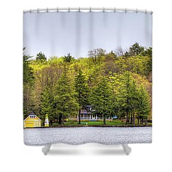 The Early Greens Of Spring Shower Curtain by David Patterson