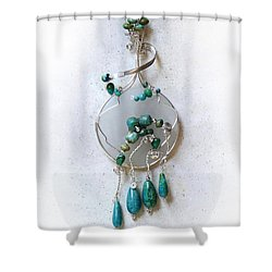 The Earth And Sky And Sea Shower Curtain by Rhonda Chase