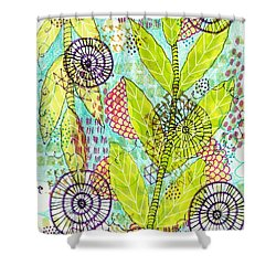 The Earth Dances Shower Curtain by Lisa Noneman