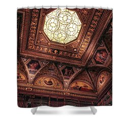 Shower Curtain featuring the photograph The East Room Ceiling by Jessica Jenney