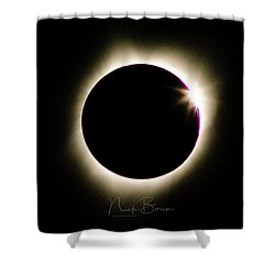 The Edge Of Totality 2 Shower Curtain