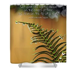 Shower Curtain featuring the photograph The Edges Of Time by Peggy Hughes