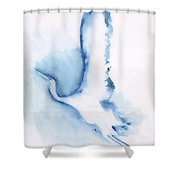 The Egret Take Off Shower Curtain