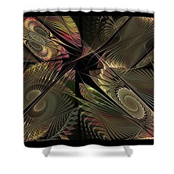 Shower Curtain featuring the digital art The Elementals - Calling The Corners by NirvanaBlues