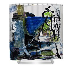 Shower Curtain featuring the painting The Elements by Betty Pieper