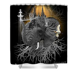The Elephant Kingdom Shower Curtain