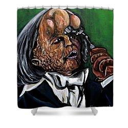 The Elephant Man Shower Curtain by Jose Mendez