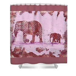 The Elephant March Shower Curtain