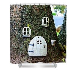 The Elf House Shower Curtain by Paul Ward
