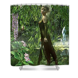 The Elven Realm Shower Curtain
