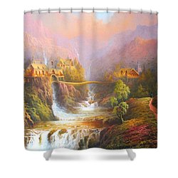 Kingdom Of The Elves Shower Curtain