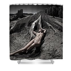 Shower Curtain featuring the photograph Deaths Embrace by Dario Infini