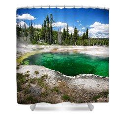 The Emerald Eye Shower Curtain