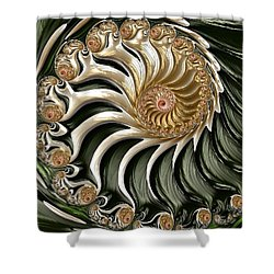 The Emerald Queen's Nautilus Shower Curtain