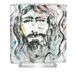 The Emotions Of Jesus Shower Curtain by Nadine Rippelmeyer