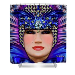Shower Curtain featuring the photograph The Empress Barbaka #192 by Barbara Tristan