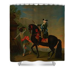 Shower Curtain featuring the painting The Empress Elizabeth Of Russia by Georg Grooth