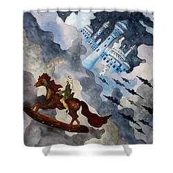The Enchanted Horse Shower Curtain