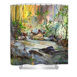 The Enchanted Pool Shower Curtain