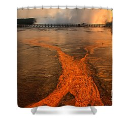 The Enchantment Of Grand Prismatic Spring Shower Curtain