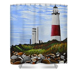 The End Shower Curtain by Donna Blossom