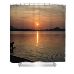 The End Of A Hot Day Shower Curtain by Michelle Meenawong