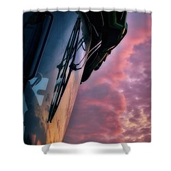 Shower Curtain featuring the photograph The End Of A Long Day by Mark Dodd