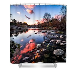 The End Of Autumn Shower Curtain