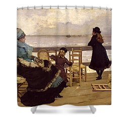 The End Of October Shower Curtain by Ernest Ange Duez