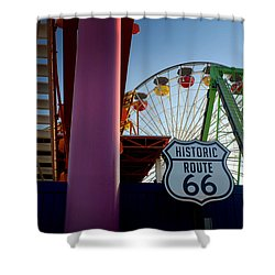The End Of Route 66 1 Shower Curtain